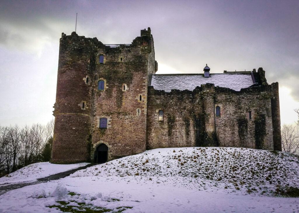 Doune Castle in Winter