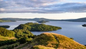 Conic Hill overlooking Loch Lomond