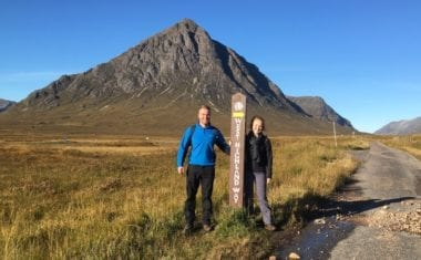 West Highland Way walkers by Buachaille Etive Mòr