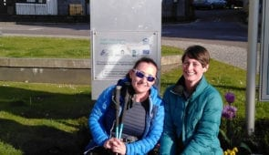 Happy walkers at the end of the West Highland Way in Fort William