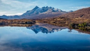 View over the Cuillin Hills on Skye