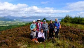 A group of hikers on the John Muir Way