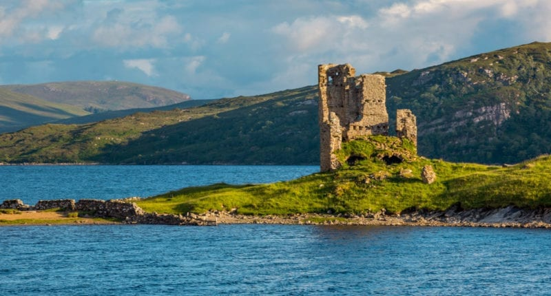 Ardvreck Castle on Loch Assynt