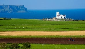 Ballintoy Church on the Causeway Coast Way
