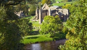Bolton Abbey in Wharfedale, North Yorkshire