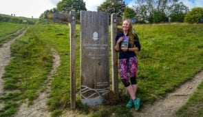 Charlotte from Absolute Escapes on the South Downs Way