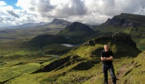 James from Absolute Escapes on the Trotternish Ridge