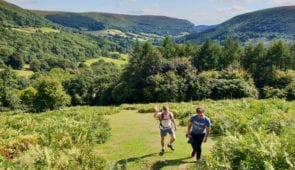 Offa's Dyke Path walkers near Llanthony