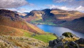 Scafell Pike and Wastwater in Wasdale Valley