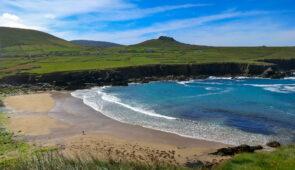 The dramatic coastline on the Dingle Peninsula