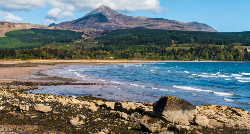 View of Goat Fell from Brodick