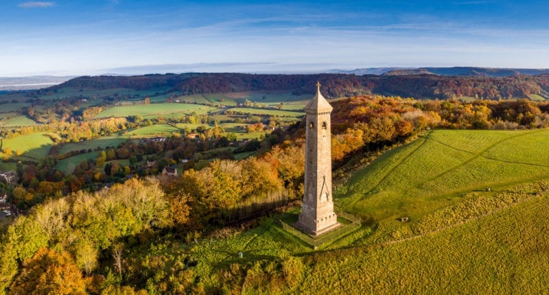 Views of the Tyndale Monument on the Cotswold Way