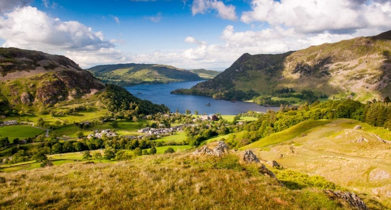 Views over Ullswater in the Lake District National Park