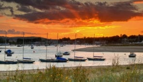 Bembridge Harbour at sunset (Credit - Visit Isle of Wight)