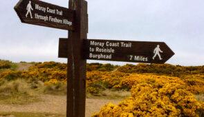 Coastal Moray Way waymarker
