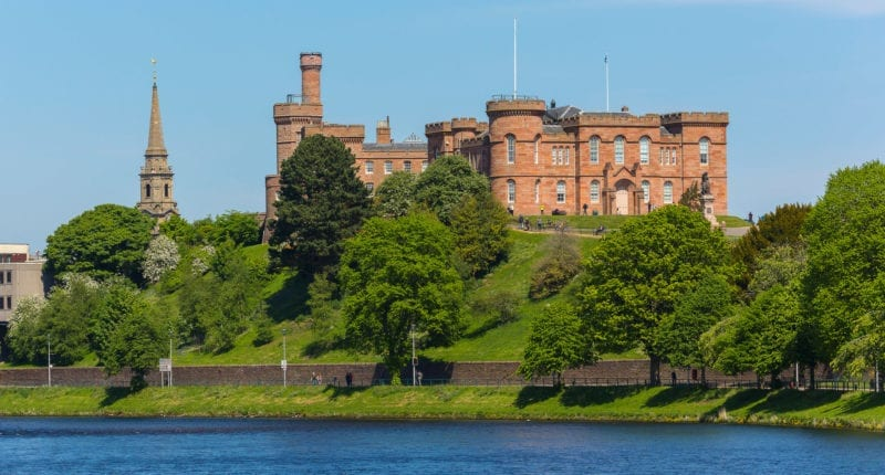 Inverness Castle looking over the River Ness