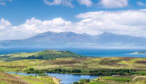 Isle of Arran from mainland Scotland