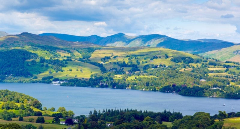 Lake Windermere in the Lake District National Park