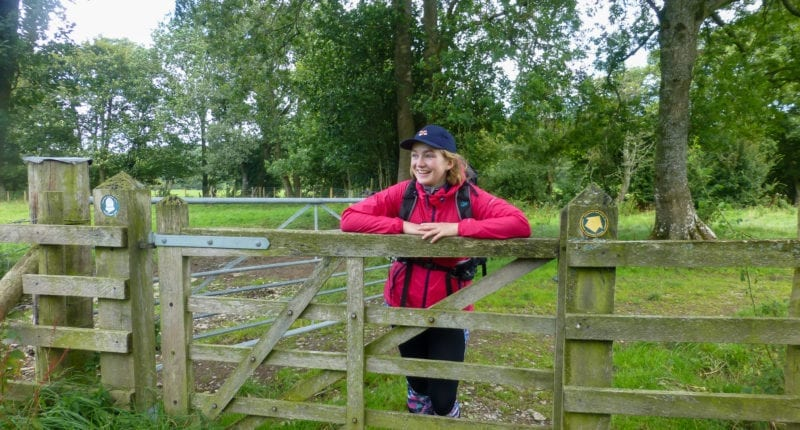 Pippa from the Absolute Escapes team on the Offa's Dyke Path