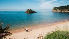 Portelet Bay on the Jersey Coastal Path