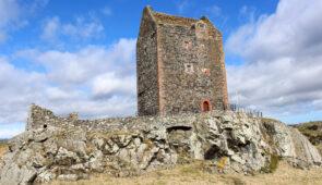 Ruins near Jedburgh on the Borders Abbeys Way