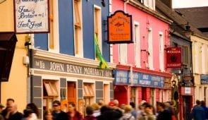 The bustling town of Dingle