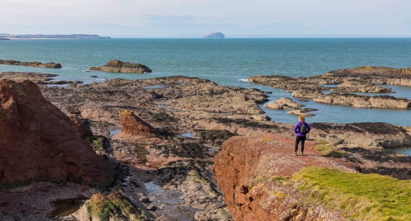 The coastline near Dunbar