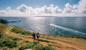 Walking on Herm Island