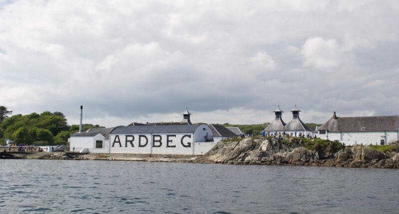 Ardbeg Distillery from the sea