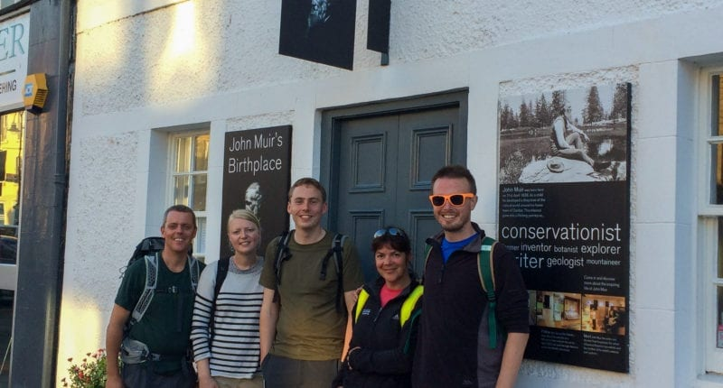 The Absolute Escapes team at John Muir's Birthplace, Dunbar
