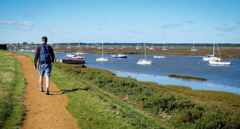 Approaching Wells-next-the-Sea on the Norfolk Coast Path