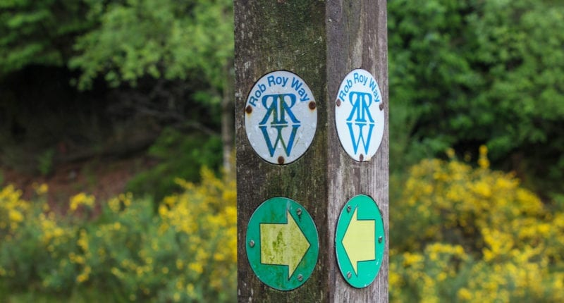 Rob Roy Way signpost