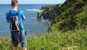 Scott from Absolute Escapes on the Berwickshire Coastal Path