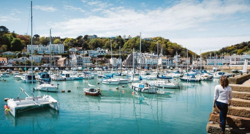 St Aubin on the Jersey Coastal Path