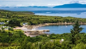 The scenic coastline around the Iveragh Peninsula