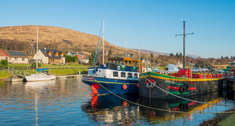 Barges on the Caledonian Canal