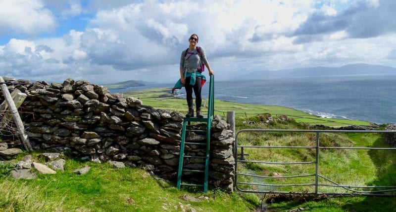 Katia from Absolute Escapes walking from Dingle to Dunquin