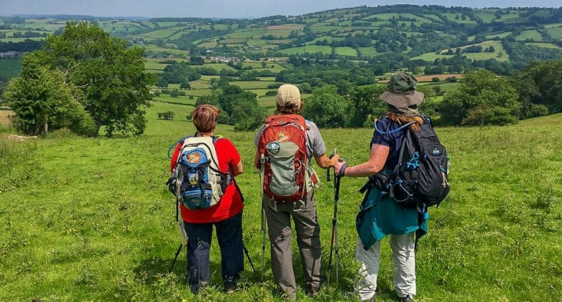 Offa's Dyke Path walkers enjoying the view