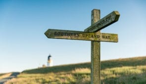 Signpost on the Southern Upland Way