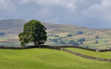 View of rolling hills near Hawes
