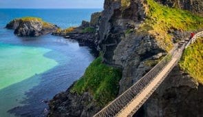 Carrick-a-Rede Rope Bridge near Ballintoy in County Antrim