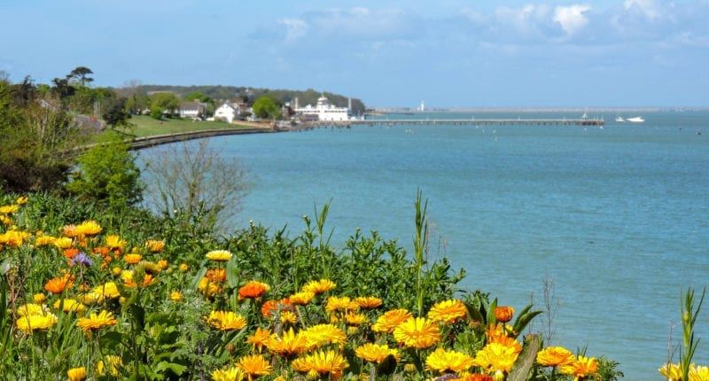 Coastal scenery between Cowes and Yarmouth