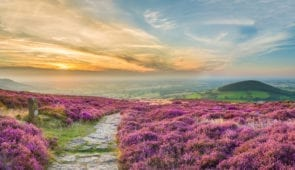 North York Moors at sunset
