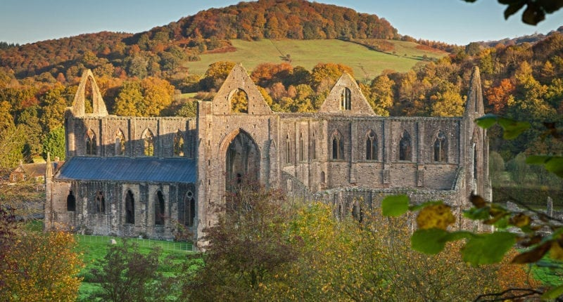 Tintern Abbey on the Offa's Dyke Path