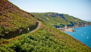 Walkers on the Jersey Coastal Path