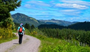 Walking from Drymen to Aberfoyle