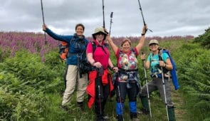 Absolute Escapes clients on Offa's Dyke Path