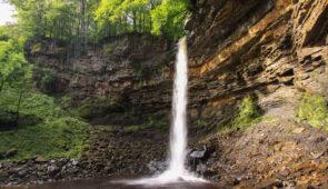 Hardraw Force, the longest single drop waterfall in England