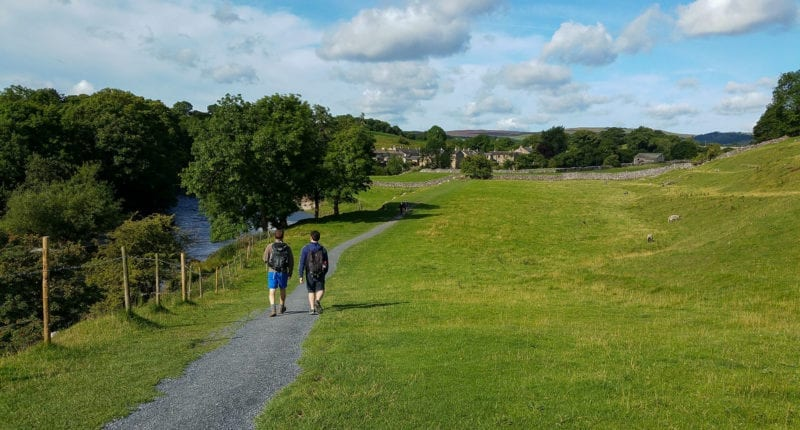 Hikers on the Dales Way