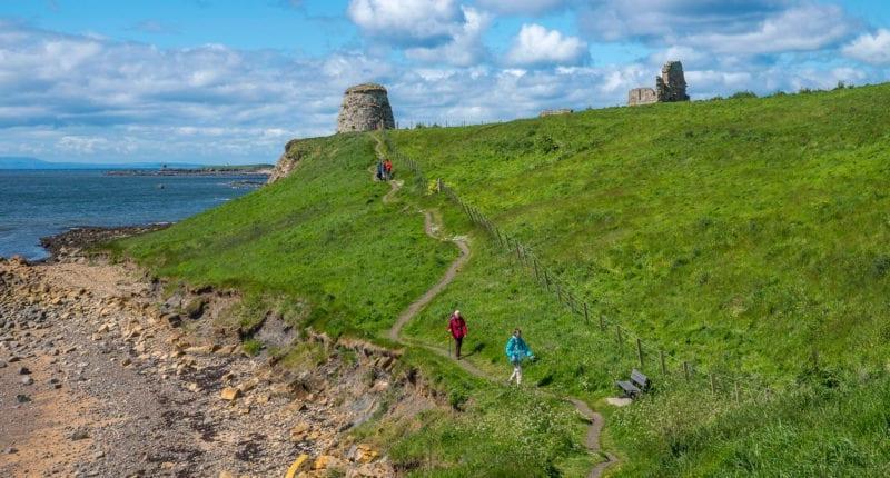Newark Castle on the Fife Coastal Path